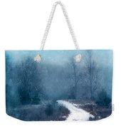 Snowy Foggy Rural Path Weekender Tote Bag