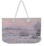 Snowy Landscape At Twilight Weekender Tote Bag