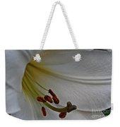 Snowy Lily Weekender Tote Bag