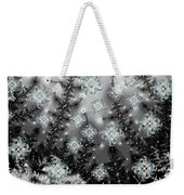 Snowy Night I Fractal Weekender Tote Bag by Betsy Knapp