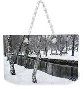 Snowy Park Weekender Tote Bag