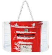 Snowy Pillar Box Weekender Tote Bag