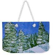 Snowy Pines Weekender Tote Bag