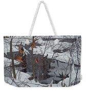 Snowy Pond Weekender Tote Bag