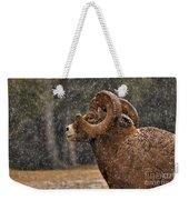 Snowy Ram Weekender Tote Bag