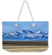 Snowy Rockies Weekender Tote Bag