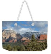 Snowy Sedona Afternoon Weekender Tote Bag