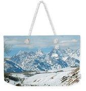Snowy Tetons Weekender Tote Bag