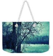 Snowy Woods By A Lake Weekender Tote Bag