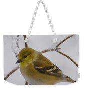 Snowy Yellow Finch Weekender Tote Bag