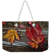 Soaked Leaves Weekender Tote Bag