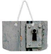 Soft Blue Door And Lock Weekender Tote Bag
