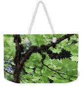 Soft Green Leaves Weekender Tote Bag