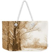 Soft Sepia Season's Greetings Weekender Tote Bag