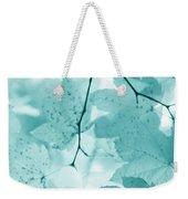 Softness Of Teal Maple Leaves Weekender Tote Bag