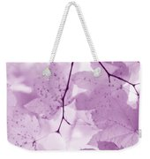 Softness Of Violet Maple Leaves Weekender Tote Bag
