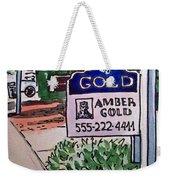 Sold Sketchbook Project Down My Street Weekender Tote Bag by Irina Sztukowski