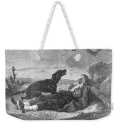 Soldier & Dog Weekender Tote Bag