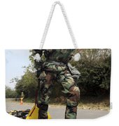 Soldier Drags A Simulated Attack Victim Weekender Tote Bag