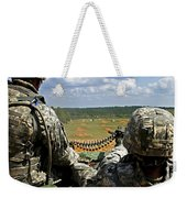 Soldier Feeds Ammunition To His Gunner Weekender Tote Bag by Stocktrek Images