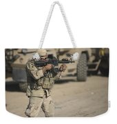 Soldier Fires A M4 Carbine Weekender Tote Bag