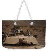 Soldier Looks Out The Main Hatch Weekender Tote Bag