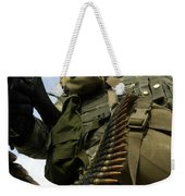 Soldier Mans A Vehicle Mounted 7.62 Mm Weekender Tote Bag by Stocktrek Images