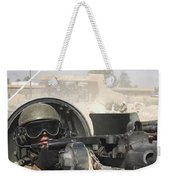 Soldier Pulls Security From The Hatch Weekender Tote Bag