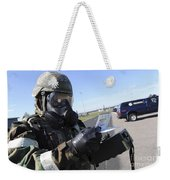 Soldier Uses An M256 Kit To Identify Weekender Tote Bag