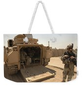 Soldiers Climb Into The Back Of A M2 Weekender Tote Bag