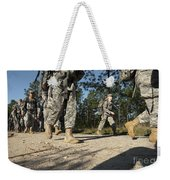 Soldiers Conduct A Ruck March At Fort Weekender Tote Bag
