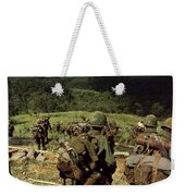 Soldiers Descend The Side Of Hill 742 Weekender Tote Bag