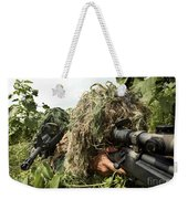 Soldiers Dressed In Ghillie Suits Weekender Tote Bag