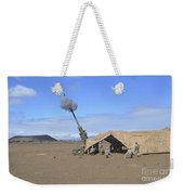 Soldiers Execute A High Angle Fire Weekender Tote Bag
