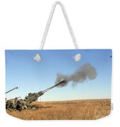 Soldiers Fire A 155mm M777 Lightweight Weekender Tote Bag