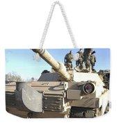 Soldiers Get Their Battletank Ready Weekender Tote Bag