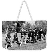 Soldiers March Black And White IIi Weekender Tote Bag