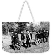 Soldiers March Black And White Weekender Tote Bag