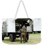 Soldiers Of An Infantry Section Weekender Tote Bag