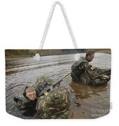 Soldiers Participate In A River Weekender Tote Bag