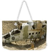 Soldiers Place Tnt Charges Weekender Tote Bag