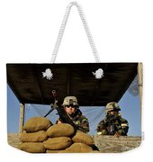 Soldiers Provide Security Weekender Tote Bag