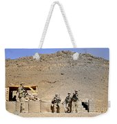 Soldiers Wait For Afghan National Weekender Tote Bag