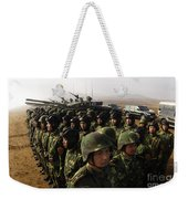 Soldiers With The Peoples Liberation Weekender Tote Bag