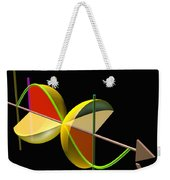 Solid Of Revolution 5 Weekender Tote Bag by Russell Kightley