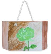Solitary Rose Weekender Tote Bag