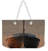 Solitary Sailboat Weekender Tote Bag