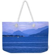 Solitary Sailing Weekender Tote Bag