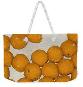 Some Indian Sweets Called A Ladoo In The Shape Of A Sphere Weekender Tote Bag