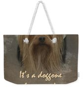 Sorry You're Sick Greeting Card - Cute Doggie Weekender Tote Bag